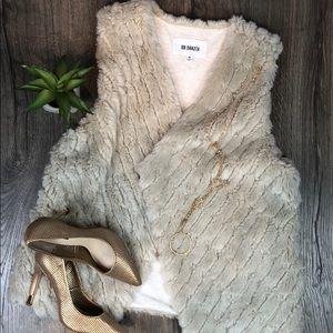 Faux Fur Vest Oatmeal
